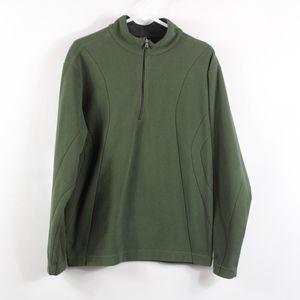 NIKE GOLF Mens Medium 1/4 Zip Fleece Jacket Green